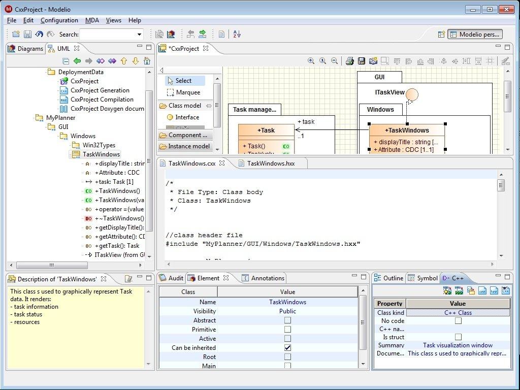 Modelio c designer code generationreverse fromto uml c designer ccuart Images