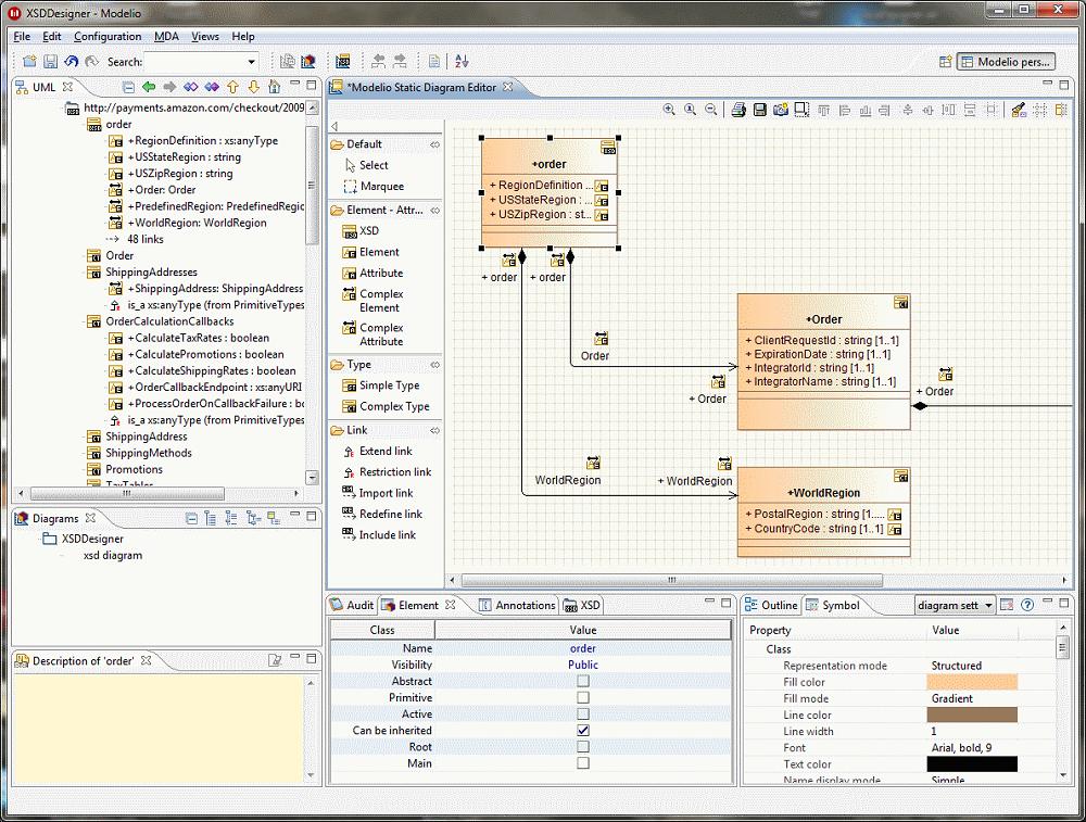 Modelio XSD Designer, modeling XSD models, production of ...