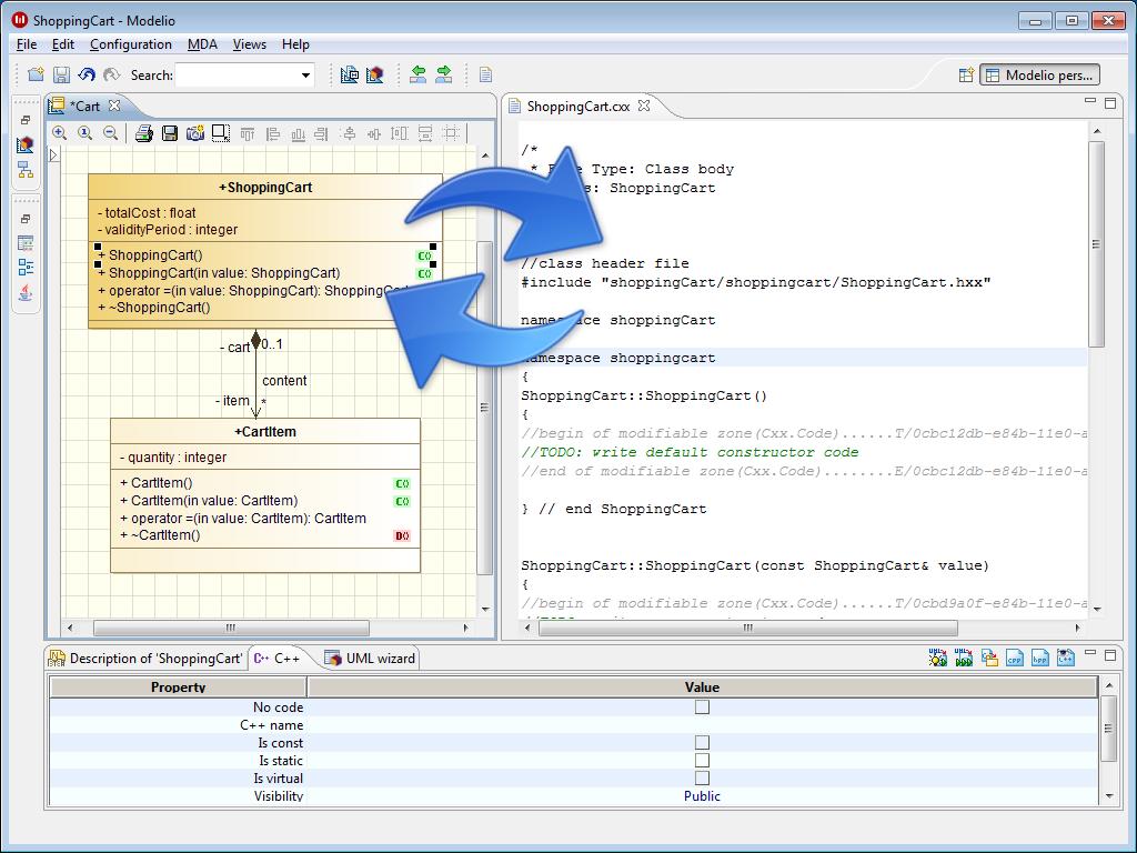 Modeliosoft modelio sd c umlcode synchronization ccuart Images