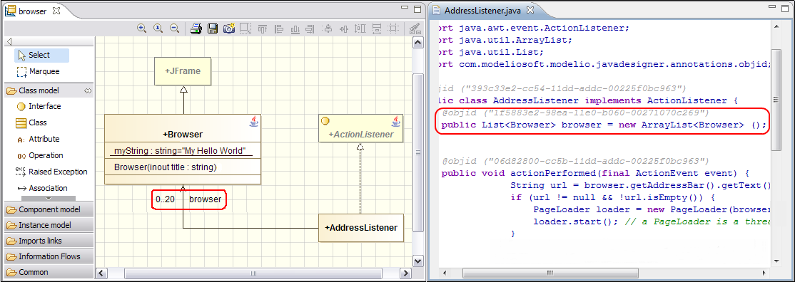 Modelio SD Java | Code generation and reverse engineering ...