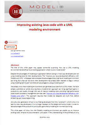 White paper Improving Java code with UML